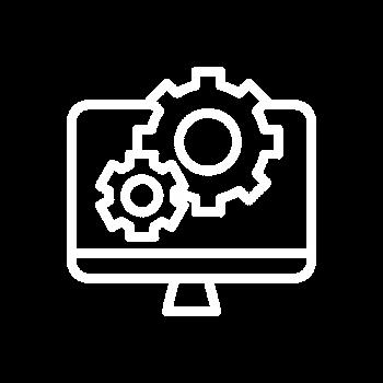logo logiciel ordi contour blanc Digitalisation des entreprises ITDM GROUP